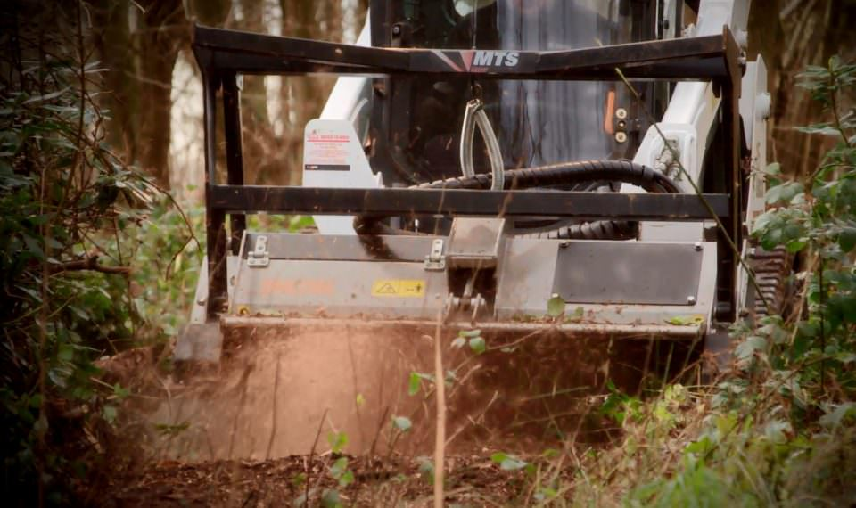 Bobcat Forestry Cutter Hire