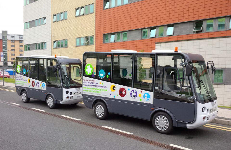 Street legal electric shuttle bus