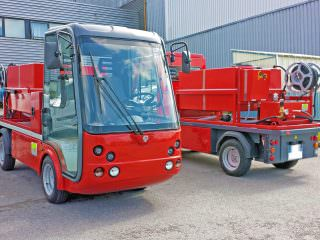 compact electric fire engine vehicle